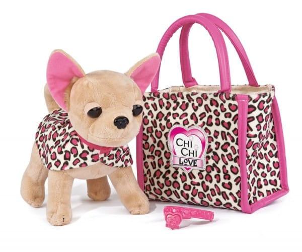 Собачка Chi Chi Love Чихуахуа Лео с сумочкой и ошейником - 20 см (Simba)
