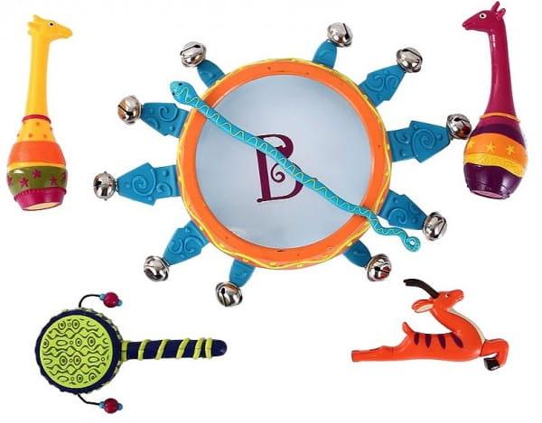 Купить Набор погремушек B Dot Мелодия джунглей в интернет магазине игрушек и детских товаров