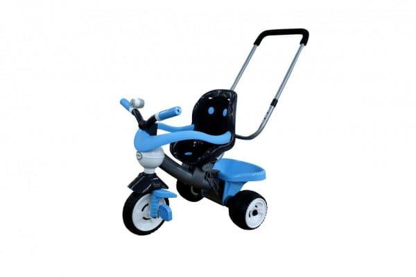 Купить Трехколесный велосипед Coloma Амиго с ограждением, клаксоном, ручкой и мягким сиденьем (колеса пластмассовые) в интернет магазине игрушек и детских товаров