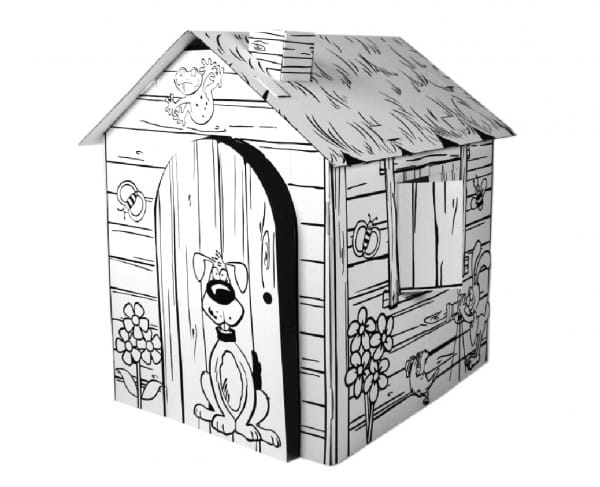Купить Домик из картона CartonHouse Веселая ферма в интернет магазине игрушек и детских товаров