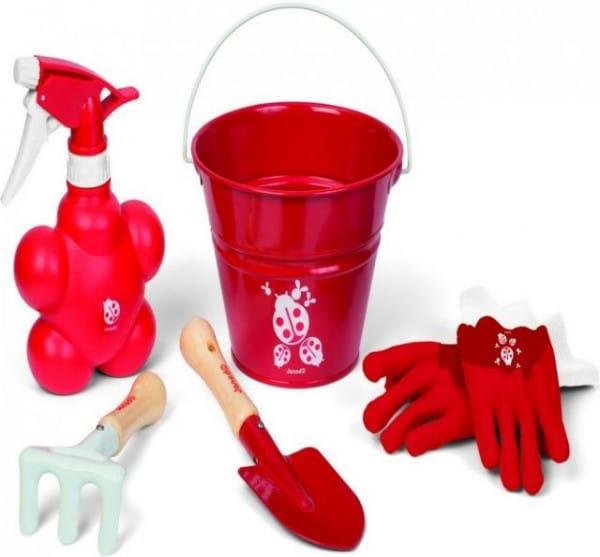 Игровой набор Janod J03236b Маленький садовник - красный