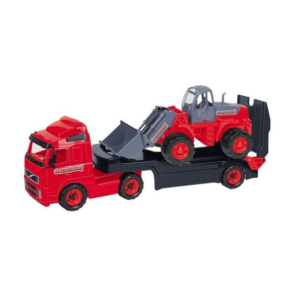 Игровой набор Полесье 9616_PLS Volvo Автомобиль-трейлер с трактором-погрузчиком
