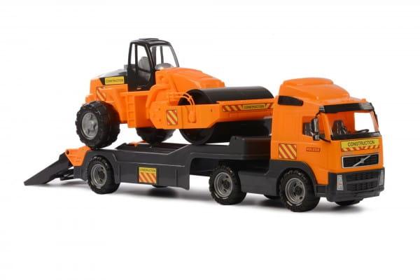 Игровой набор Polesie Volvo Автомобиль-трейлер с дорожным катком