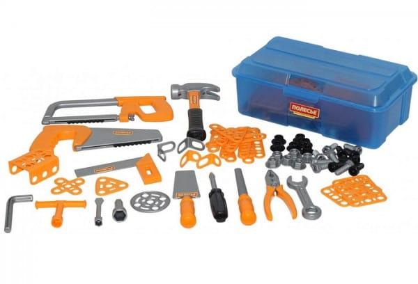 Набор инструментов Полесье 54982_PLS №9 - 156 элементов (в контейнере)