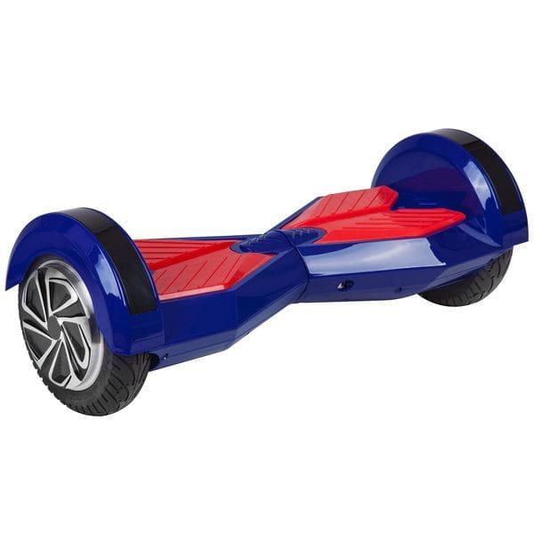 Купить Гироскутер Smart Big X-дизайн с Bluetooth колонками и литиевой батареей Samsung - 8 дюймов (синий) в интернет магазине игрушек и детских товаров