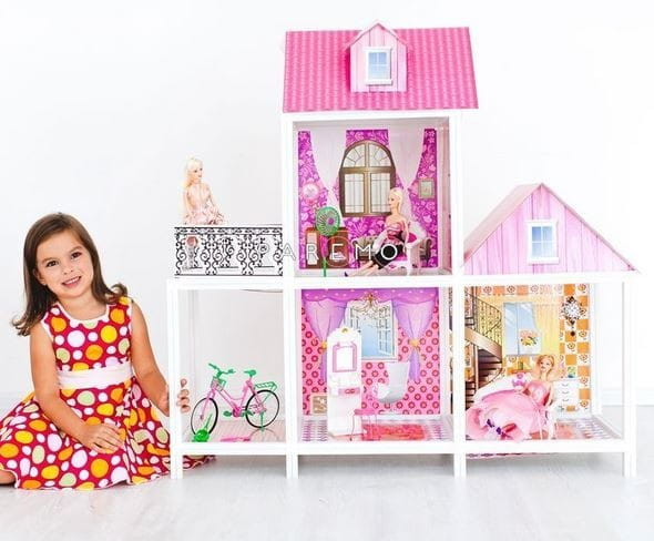 Дом для кукол Барби Paremo - 3 комнаты