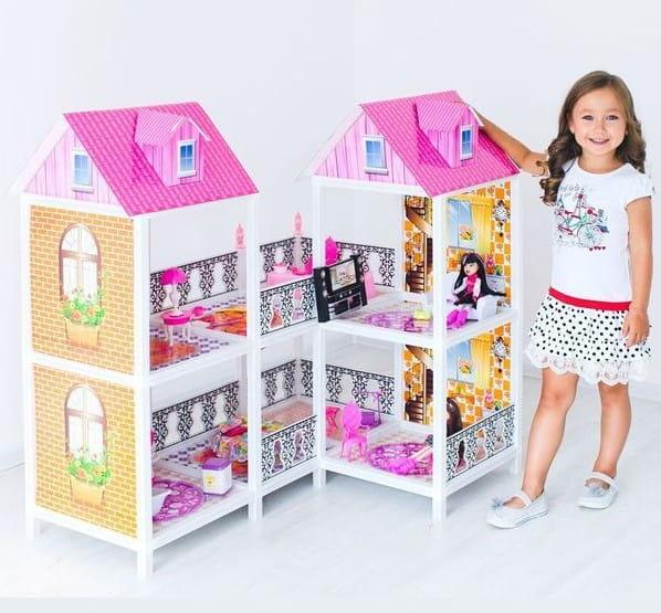 Дом для кукол Барби Paremo 2 этажа с переходами
