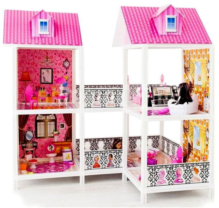 Дом для кукол Барби Paremo PPCD116-03 2 этажа с переходами
