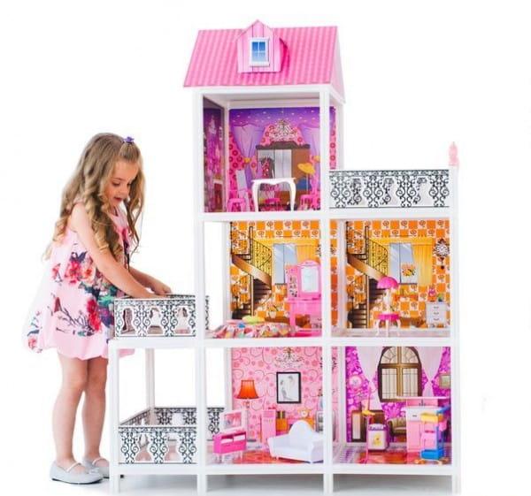 Дом для кукол Барби Paremo - 5 комнат