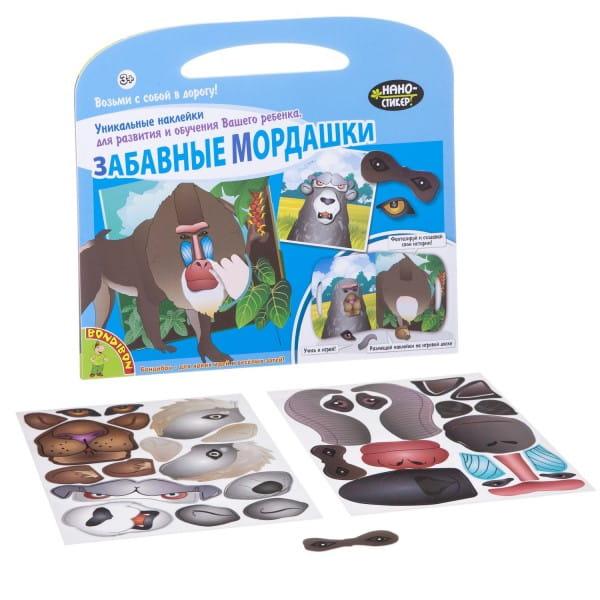 Купить Набор наклеек Bondibon Нано-стикер - Забавные мордашки 2 в интернет магазине игрушек и детских товаров