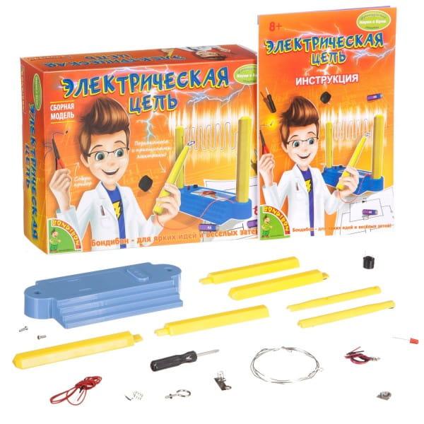 Купить Набор Bondibon Французские опыты Науки с Буки - Электрическая цепь в интернет магазине игрушек и детских товаров