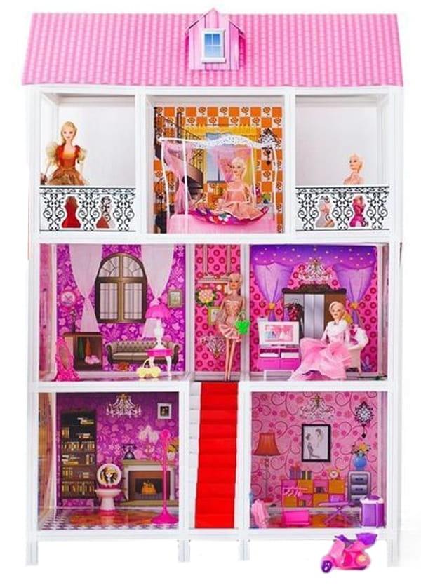 Дом для кукол Барби Paremo PPCD116-05 - 5 комнат (с лестницей и мебелью)