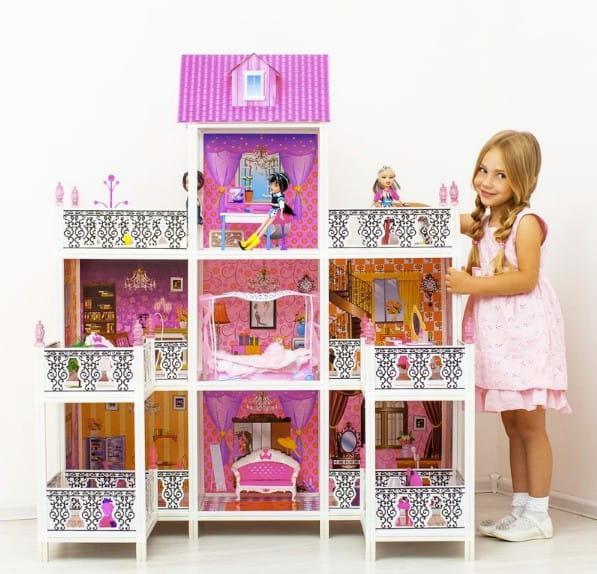 Дом для кукол Барби Paremo - 7 комнат