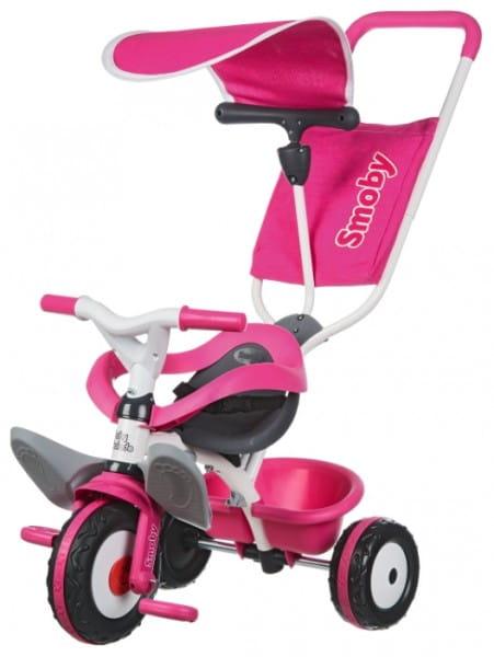 Купить Трехколесный велосипед Smoby Balade - розовый в интернет магазине игрушек и детских товаров