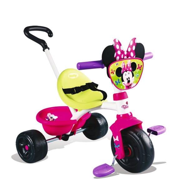Трехколесный велосипед Smoby 444243 Minnie с ручкой