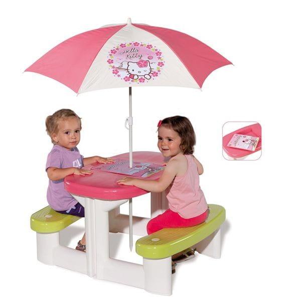 Столик для пикника Smoby Hello Kitty с зонтиком