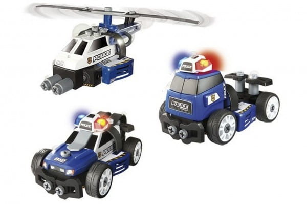 Игровой набор-конструктор Smoby Полиция 3 в 1