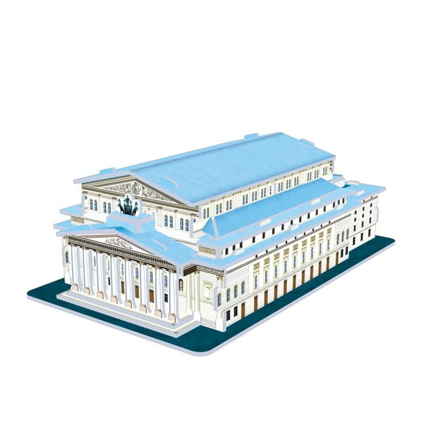 Купить Объемный 3D пазл CubicFun Большой театр (Россия) в интернет магазине игрушек и детских товаров