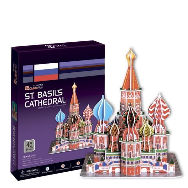 Объемный 3D пазл CUBICFUN Собор Василия Блаженного (Москва) - 3D-пазлы