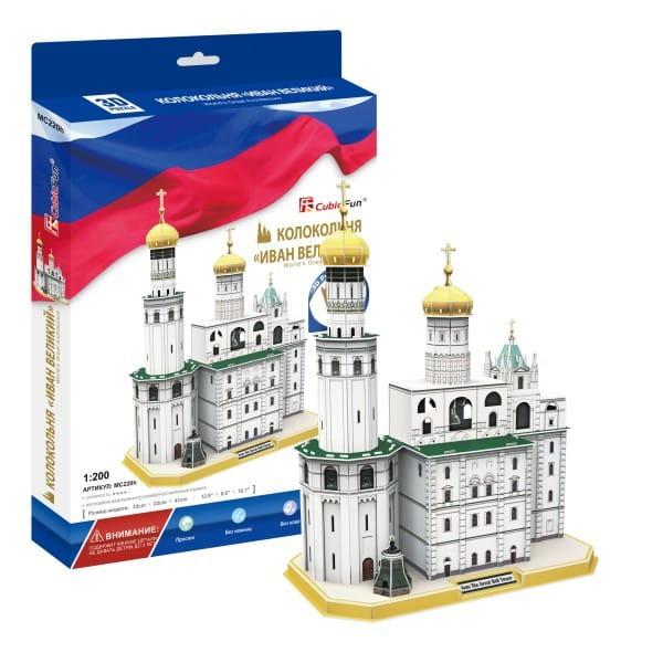 Купить Объемный 3D пазл CubicFun Колокольня Ивана Великого (Россия) в интернет магазине игрушек и детских товаров