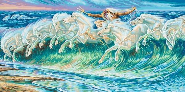 Раскраска по номерам Schipper Лошади Нептуна (Вольтер Крейн)