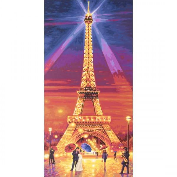 Раскраска по номерам Schipper Эйфелева башня ночью