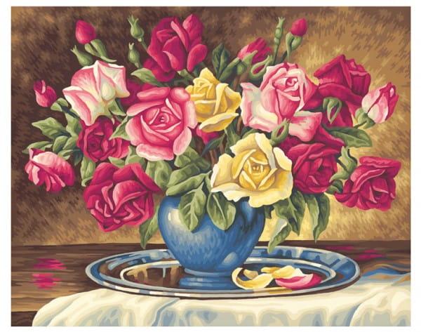 Раскраска по номерам Schipper 9130350 Розы для тебя