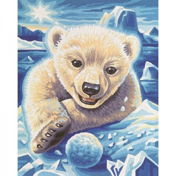 Раскраска по номерам Schipper 9240440 Медвежонок