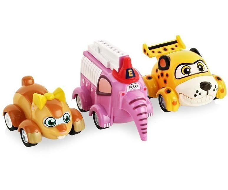 Игровой набор инерционных машинок Vroomiz V8343 Врумиз - Спиди, Софи, Слон пожарный