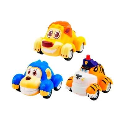 Игровой набор инерционных машинок Vroomiz Врумиз - Банги, Лайонел, Мак Тигр