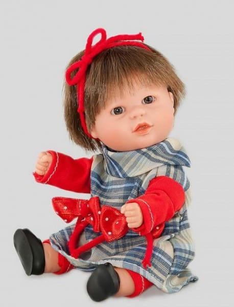 Кукла Carmen Gonzalez 12699 Бебетин - 21 см (в клетчатом платье и красных леггинсах)