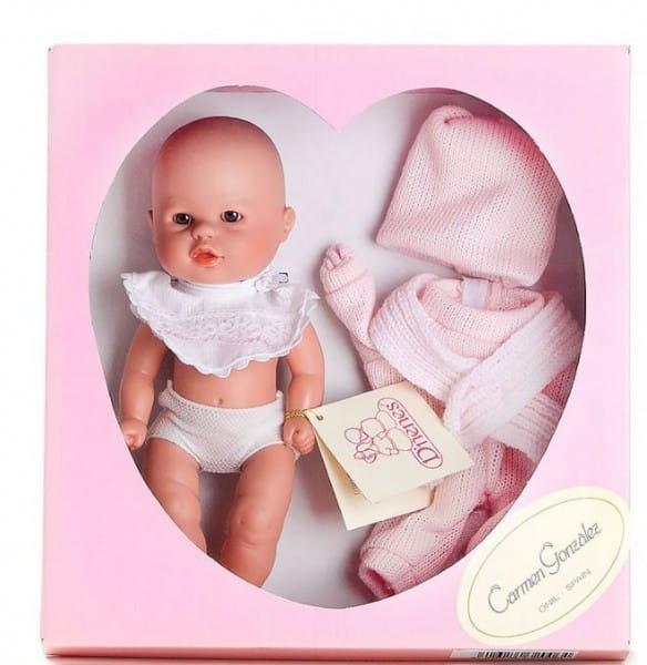 Кукла Carmen Gonzalez Бебетин - 21 см (в вязаном розовом костюмчике)