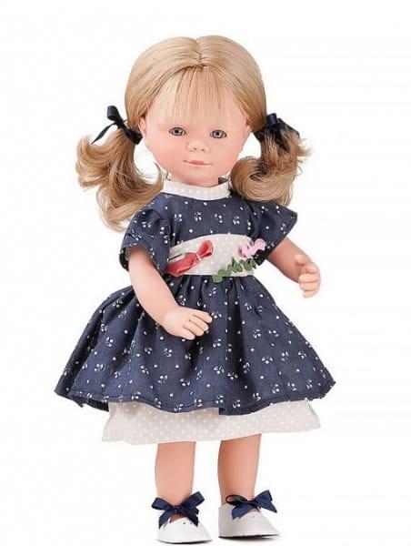 Кукла Carmen Gonzalez Мариэтта - 34 см (в нарядном темно-синем платье и кожаных туфельках)