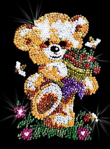 Мозаика из пайеток Волшебная мастерская 031 Мишка