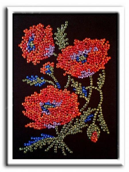 Мозаика из пайеток Волшебная мастерская 037 Маки