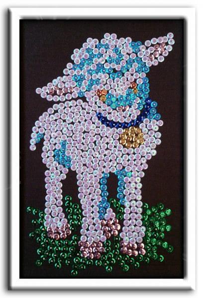 Мозаика из пайеток Волшебная мастерская М 018 Овечка