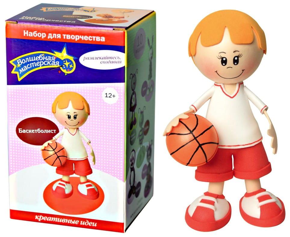 Набор для рукоделия Волшебная мастерская к002 Создай куклу - Баскетболист