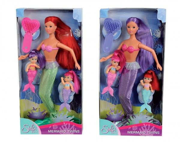 Кукла Steffi 5734162 Штеффи Русалка с двумя малышами (Simba)