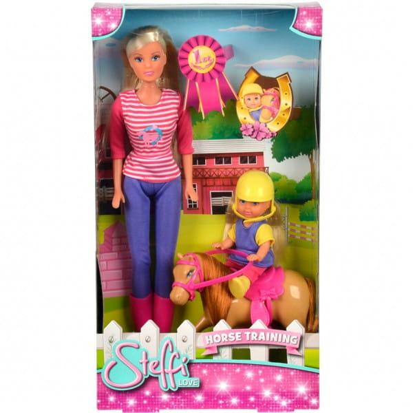 Кукла Steffi Штеффи и Evi Еви с пони на ферме (Simba)