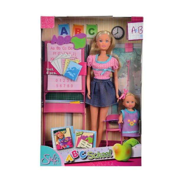 Купить Кукла Steffi Штеффи Учитель и Evi Еви ученица (Simba) в интернет магазине игрушек и детских товаров