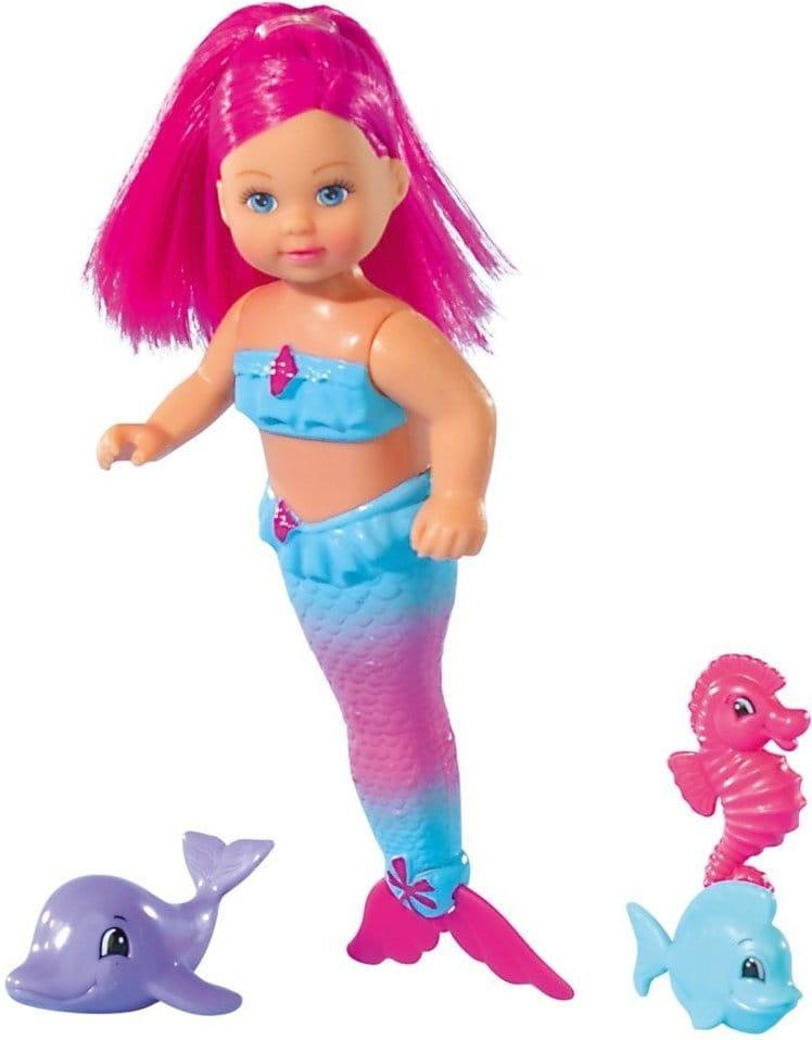 Кукла Evi Еви Русалка с двигающимся хвостом и морскими животными (SIMBA)