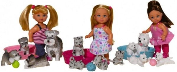 Кукла Evi Еви с домашними животными (Simba)