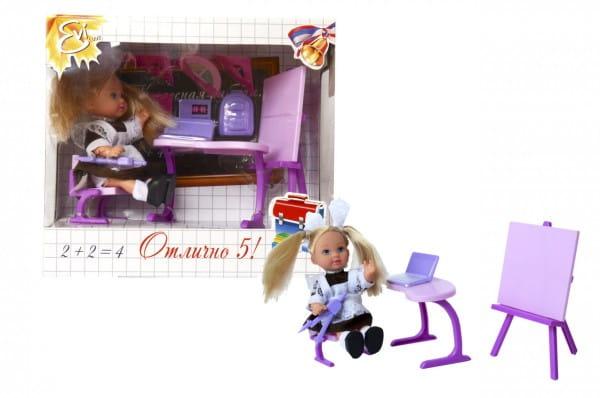 Кукла Evi Еви Школьница с партой и аксессуарами (Simba)