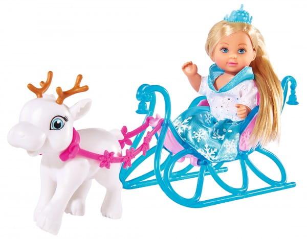 Кукла Evi Еви на санях (Simba)