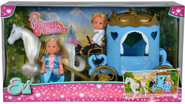 Кукла Evi Еви и Тимми в карете (Simba)
