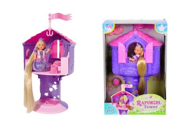 Кукла Evi Еви с длинными волосами в сказочной башне (Simba)