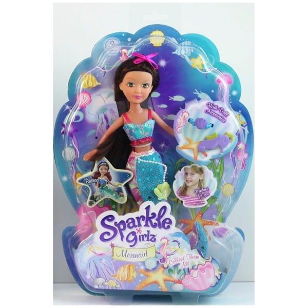 Кукла Brilliance Fair Русалочка с подвеской в виде морского конька (Funville)