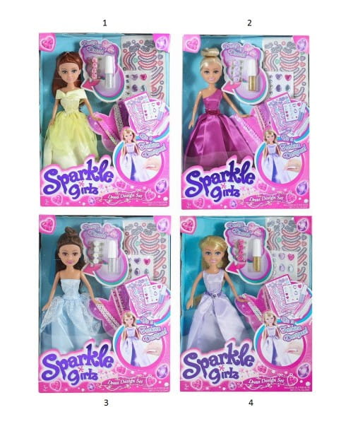 Кукла Sparkle Girlz с аксессуарами для украшения платья (Funville)
