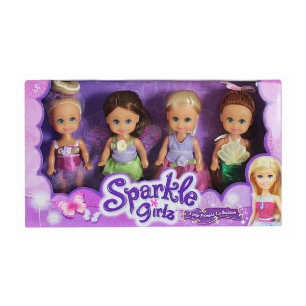 Игровой набор Sparkle Girlz Куклы феи - 4 штуки (Funville)