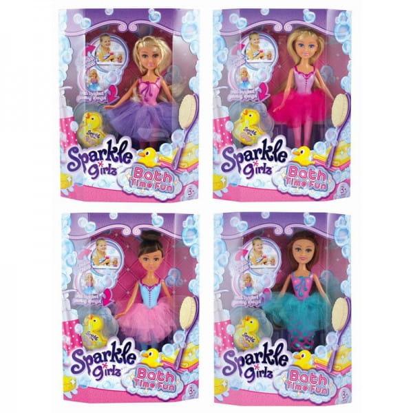 Кукла с утенком-губкой Sparkle Girlz для игры в ванной (Funville)